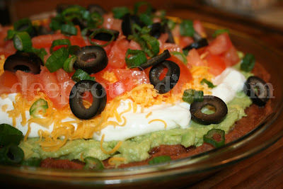 retro throw-back to the 70s and still popular today, 7 layer dip is ...