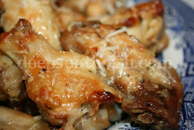 garlic chicken wings baked and sprinkled with parmesan cheese garlic ...