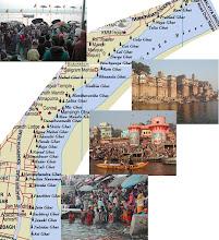Varanasi Ghats... Map