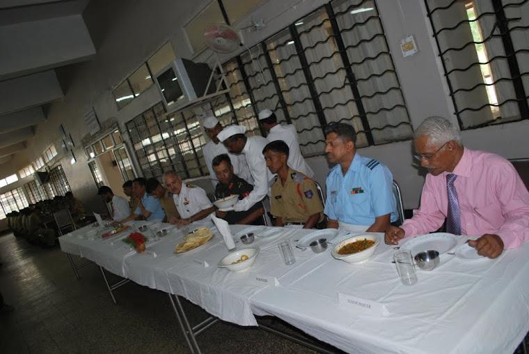 Maj Gen VSS Goudar at the dining table