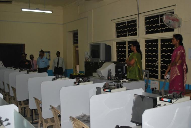 Maj Gen VSS Goudar in the Language Lab