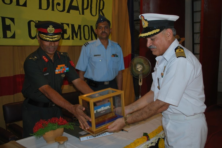 Maj Gen VSS Goudar presented with Souvenir