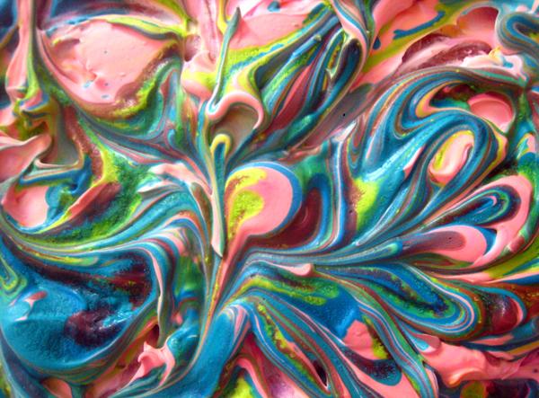 Living our own lives shaving cream paint art for Shaving cream paint