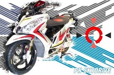 best motorcycle gambar modifikasi suzuki skydrive 125 2010