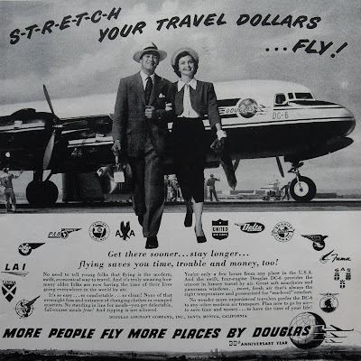 the douglas aircraft company s advertisement an The ad-1 skyraider was designed and manufactured by douglas aircraft company in southern california during the early 1940s the skyraider prototype first flight occurred on march 18, 1945 in 1946, the united state's navy, marine corp and air force began receiving their first orders of the aircraft.