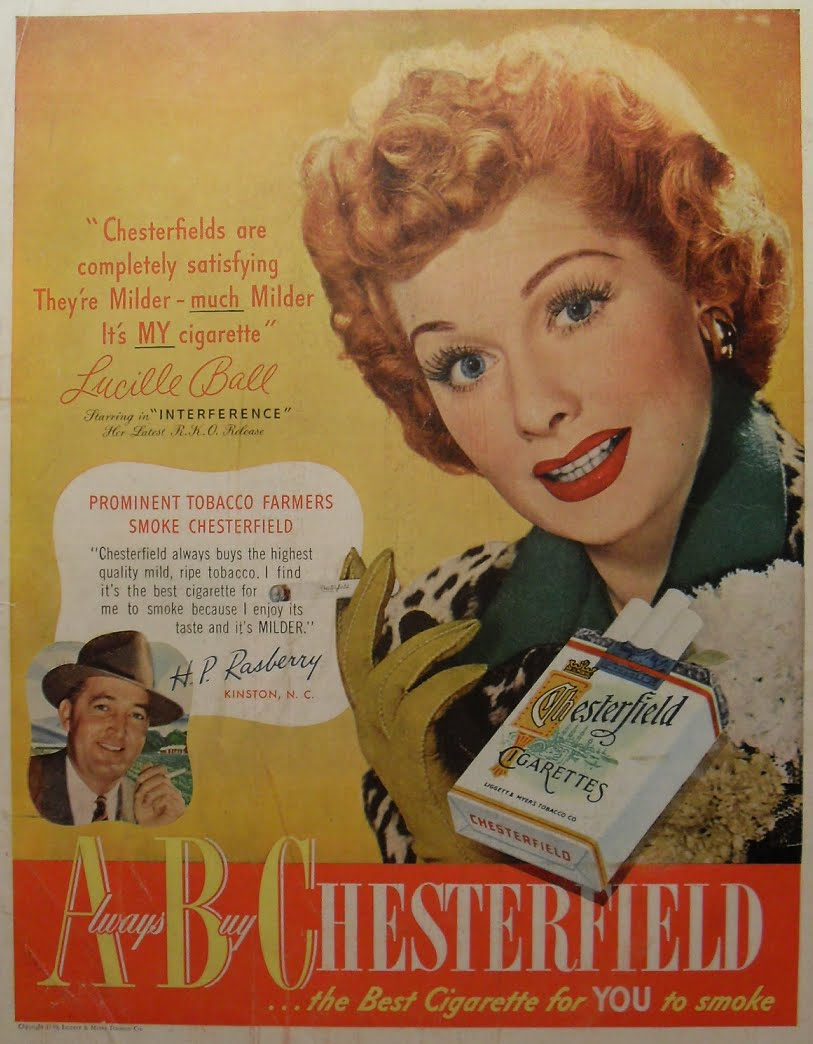 [Image: 1950s+CHESTERFIELD+Lucille+Ball+vintage+...moking.bmp]