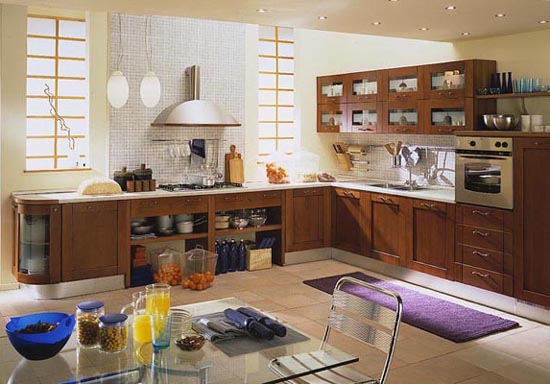 Oak wood kitchen decorating best kitchen design ideas - modern ...