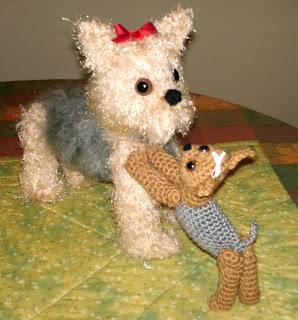 Free Amigurumi Yorkie Pattern : Amazing Greys Crochet: Yorkie & Puppy Crochet Pattern is out!