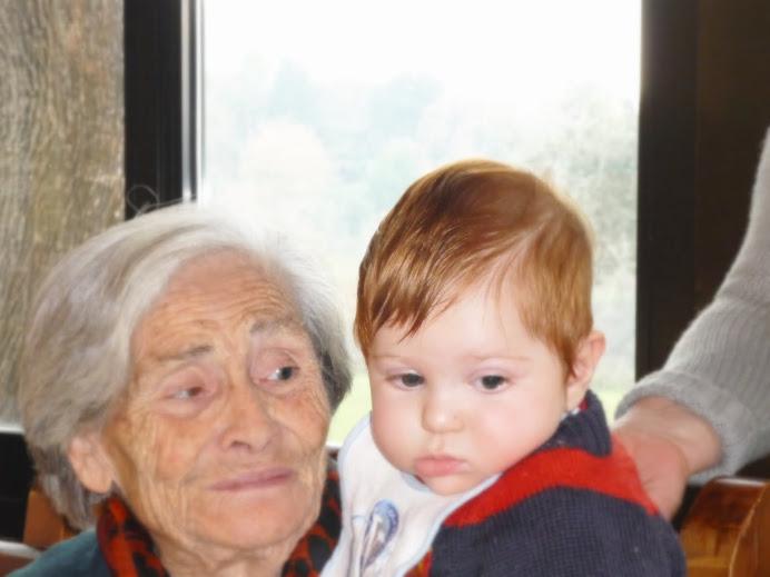 Eccoti mamma, in tutta la bellezza dei tuoi 87 anni...Sei bis-nonna...