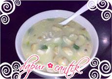 sup krim jamur dapur cantik