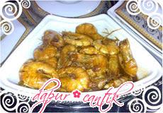 udang saus tiram dapur cantik