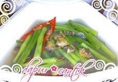 sayur buncis campur kerang dapur cantik