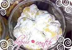 kue putri salju telur (lebaran) dapur cantik