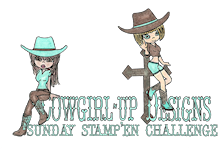 Winner of Cowgirl's Sunday Stamp'en Challenge #4