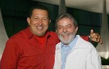 Os presidentes Hugo Chávez e Luis Inácio Lula da Silva