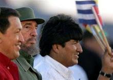 Hugo Chávez, Fidel Castro e Evo Morales