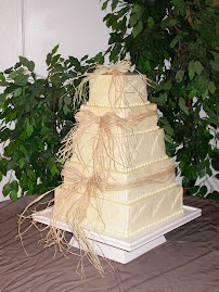 5-tier square buttercream