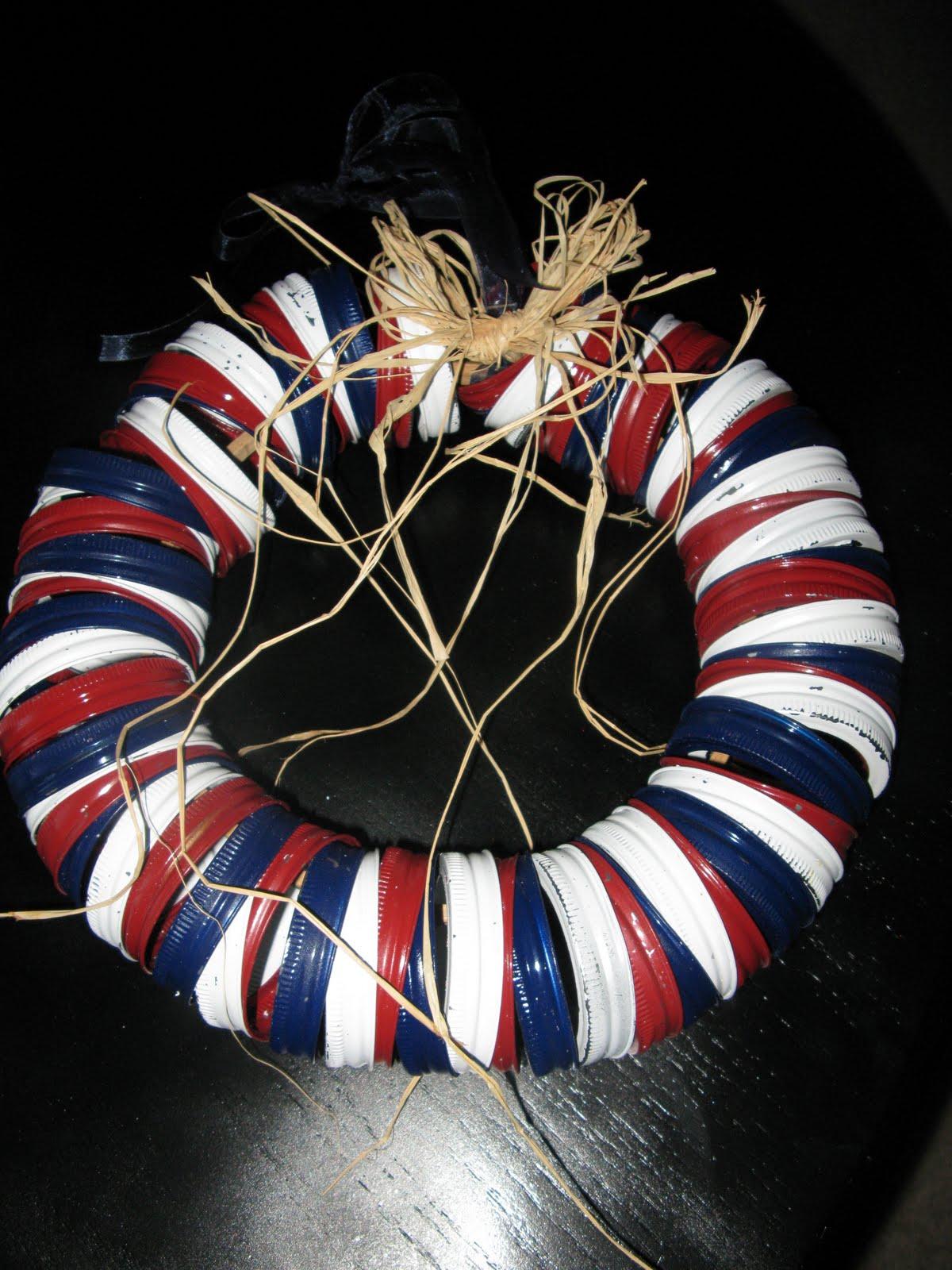 Urban Barnyard Mason Jar Lid Wreath