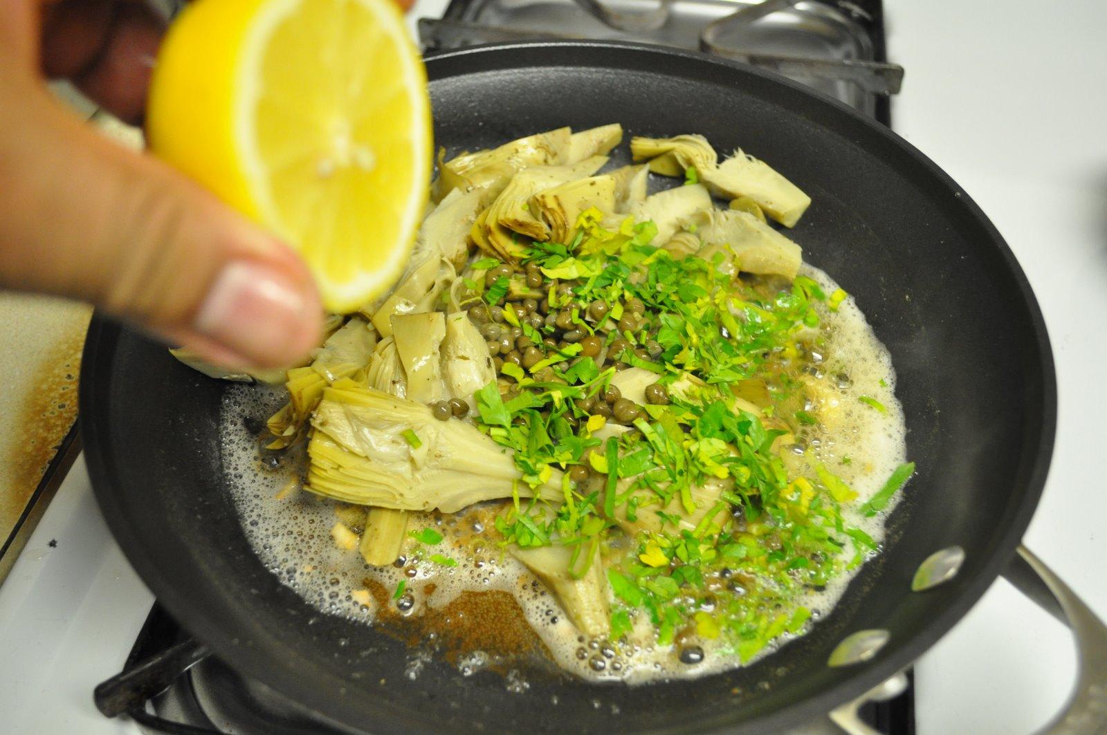 Bassa con salsa de alcachofas cocina y algo mas for Cocinar alcachofas