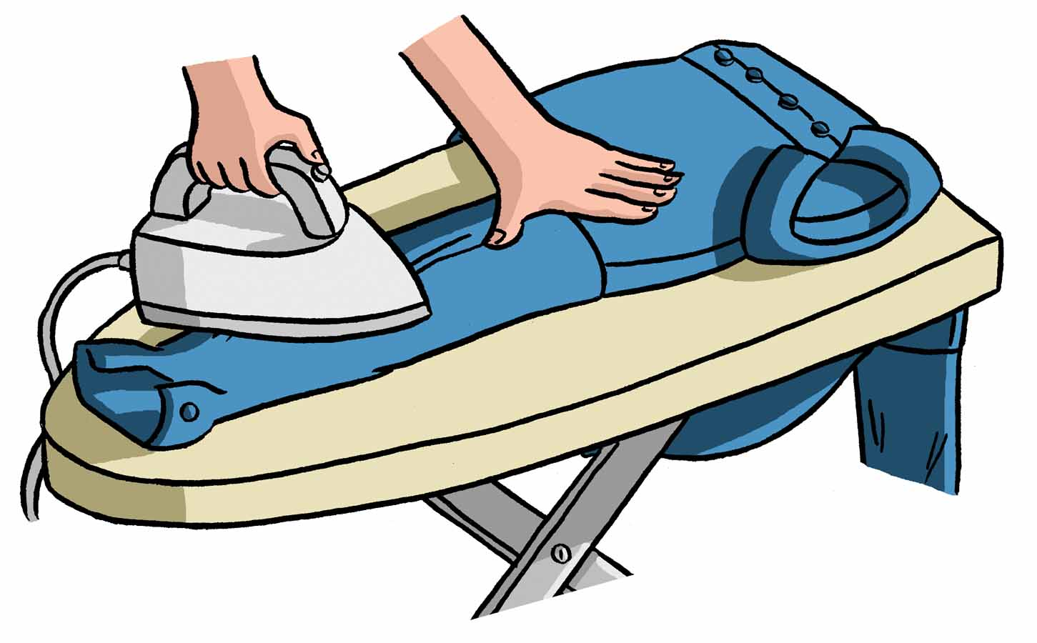 Cartoon Clothes Iron ~ Ironing clothes clipart imgkid the image kid