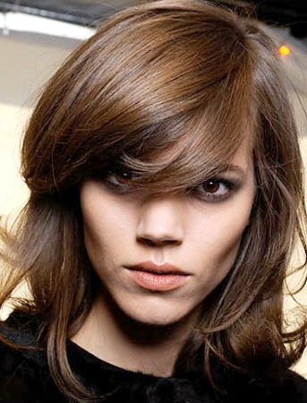 Hair Color Corner Side Swept Fringe Bangs