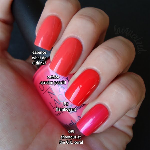 Lacquerized - A blog about nail polish: Coral Comparison ...