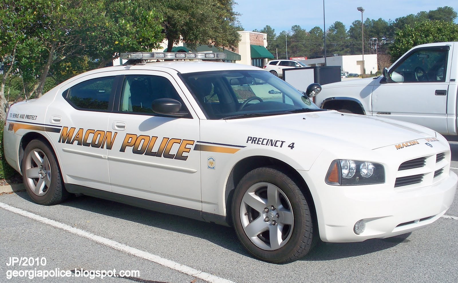 POLICE DEPARTMENT, Macon Police Patrol Car,Charger, Precinct 4, Bibb