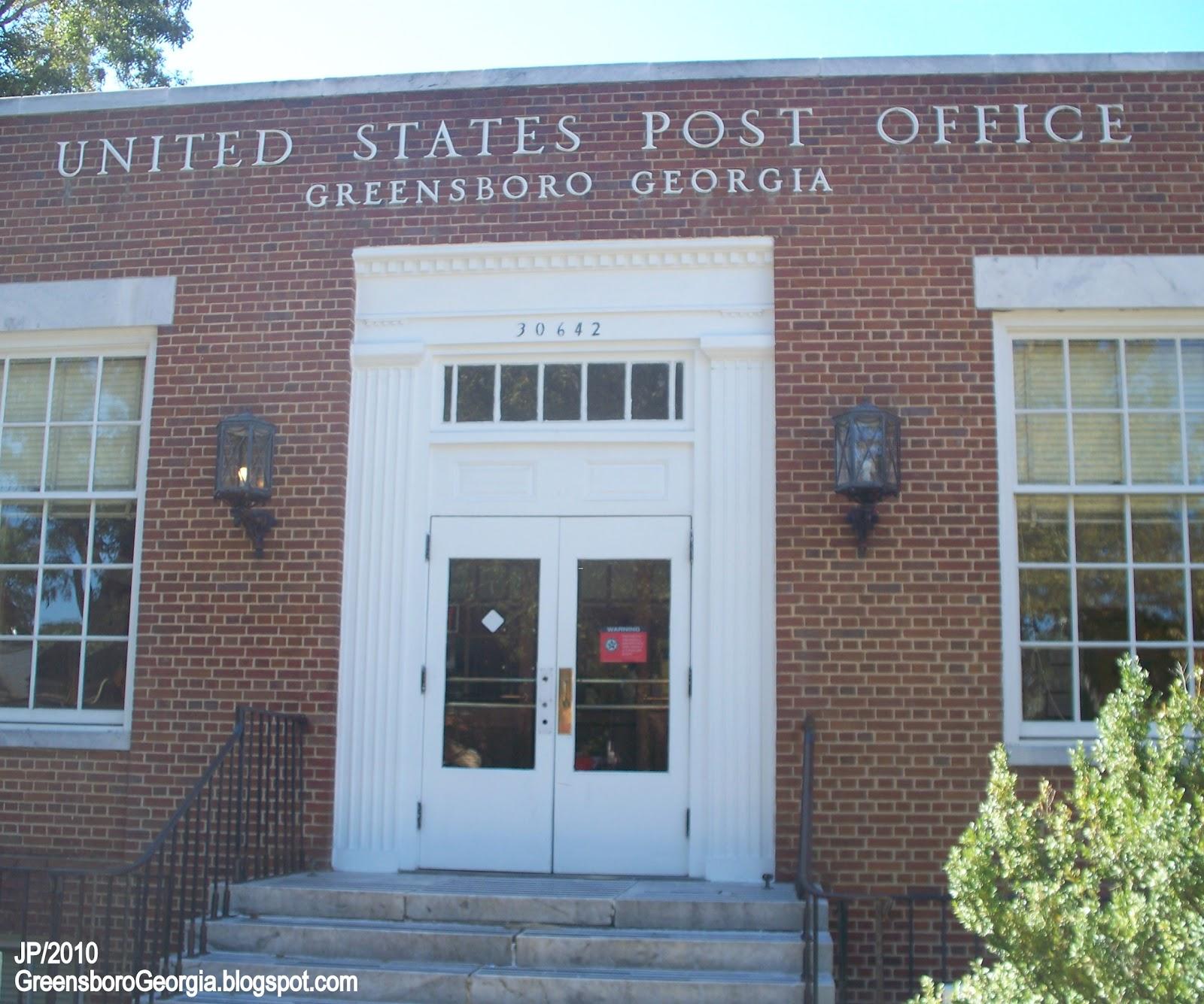 Post Service: GREENSBORO Georgia Greene Lake Oconee Golf Restaurant Bank
