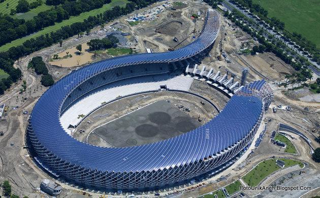 Stadion Dengan Listrik 100 Persen Dari PLTS