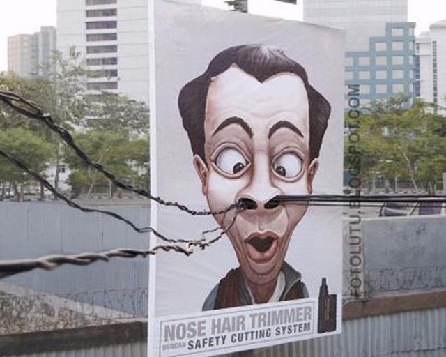 Iklan Lucu Kreatif, Pemotong Bulu Idung