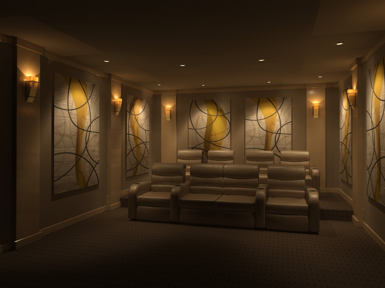 Home theater design and beyond by 3 d squared inc home for Wallpaper home cinema