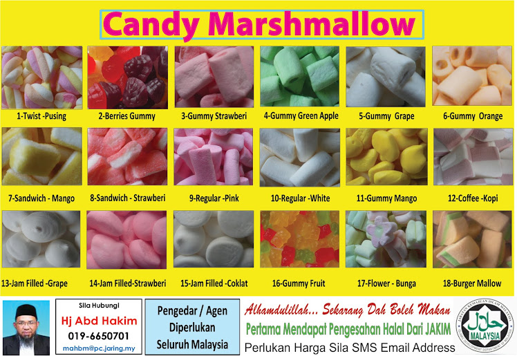 100% Halal Candy Marshmallow