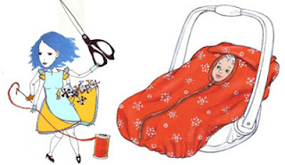 Baby car seat cover, stroller Sewing Pattern 4636 Simplicity