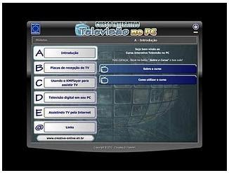 Curso Interativo Televisão no PC fdghdsfgfd