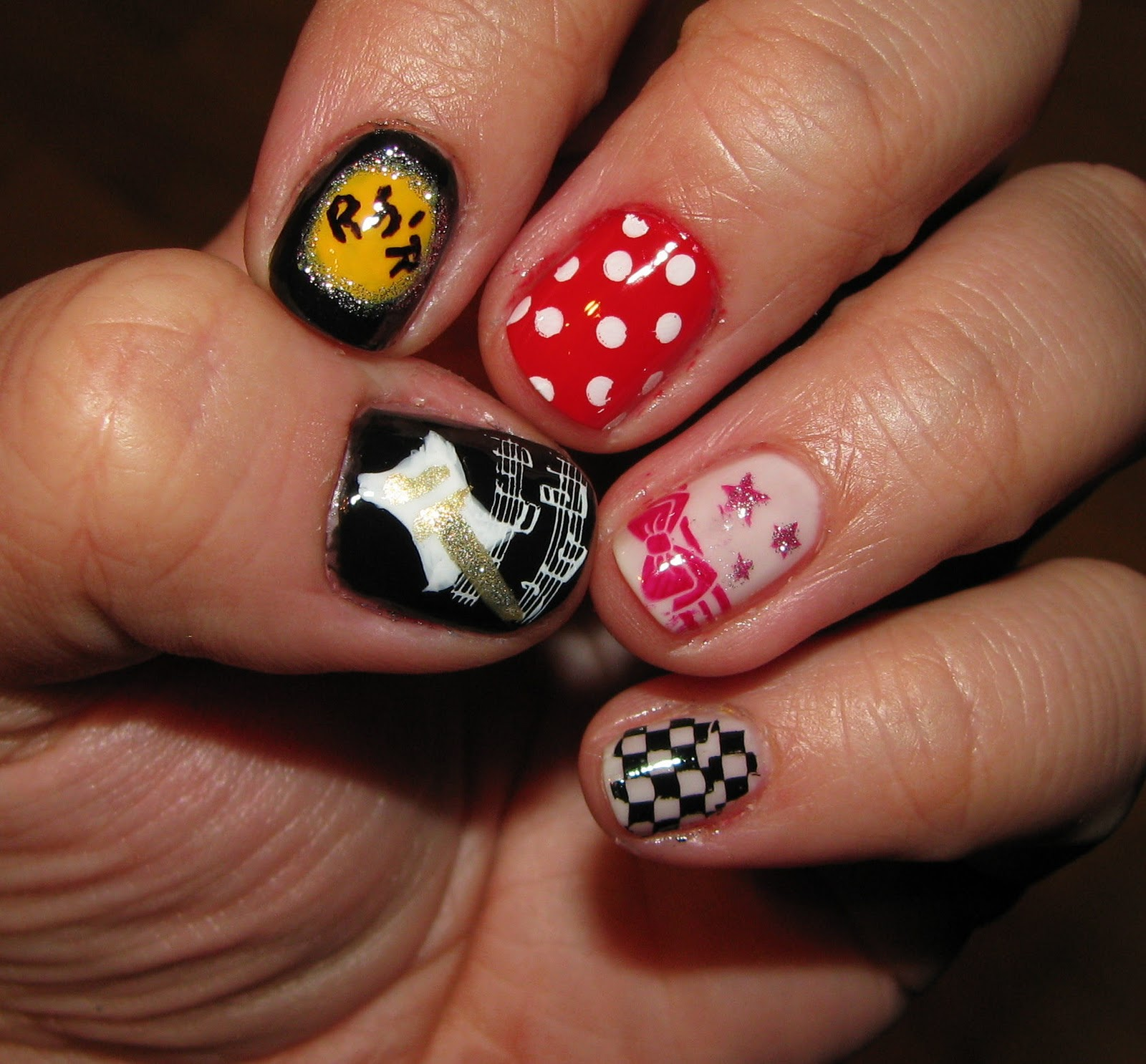the Lacquerista: Rock \'n Roll themed nail art challenge *update*