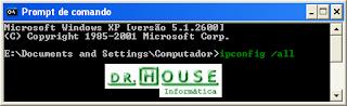Imagem do Prompt de Comando no Windows XP