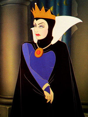 "The Evil Queen, Snow White. ""Mirror, Mirror on the wall who's the fairest"