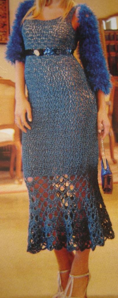 Vestidos de dama tejidos a crochet - Imagui