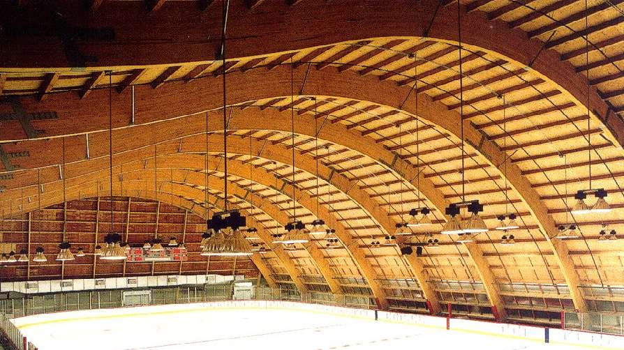 Engineered Wood Was Chosen By Architect Frank Gehry For Construction Of The Anaheim Ice Arena Two Reasons Budget And Aesthetics