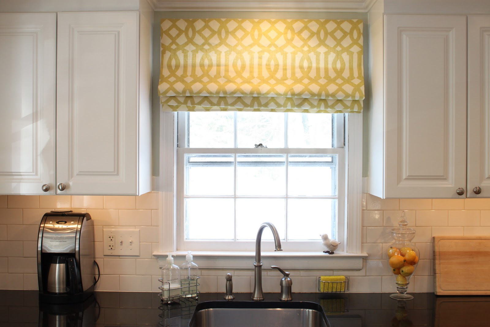 Kitchen Sink Window Treatments Roman Shades
