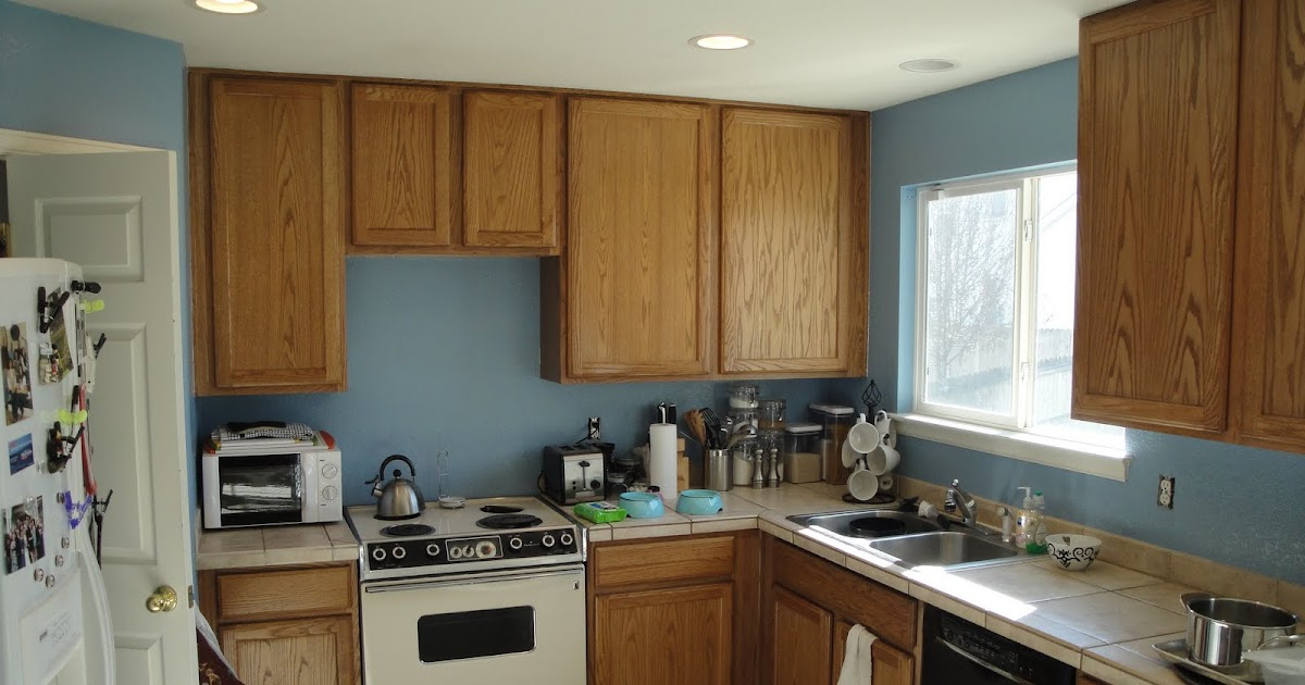 Mr Homeowner Tear Down This Wall Kitchen Blue