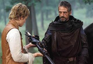 Luke receives his father's light sabre from Obi-Wan Kenobi