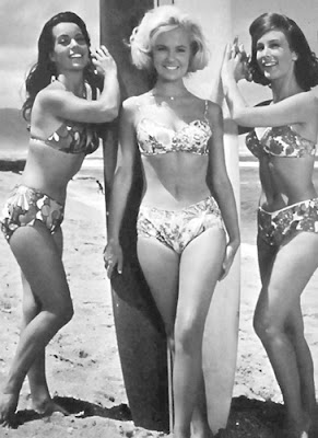 Susan Hart, Shelley Fabares, and Barbara Eden from 1964's Ride the Wild Surf.