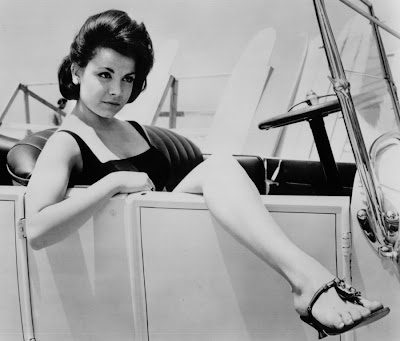 Annette Funicello stretches out.
