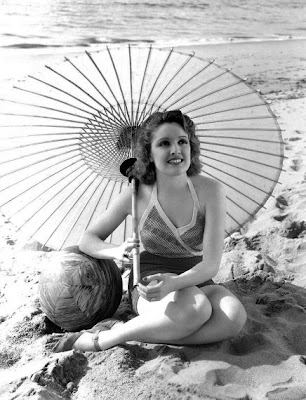 Dorothy Dare at the beach.