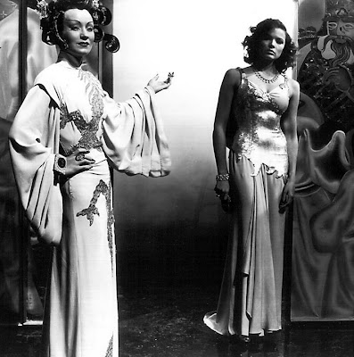 Ona Munson and Gene Tierney in The Shanghai Gesture.