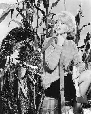 Joey Heatherton. Sex kitten with Thanksgiving turkey.