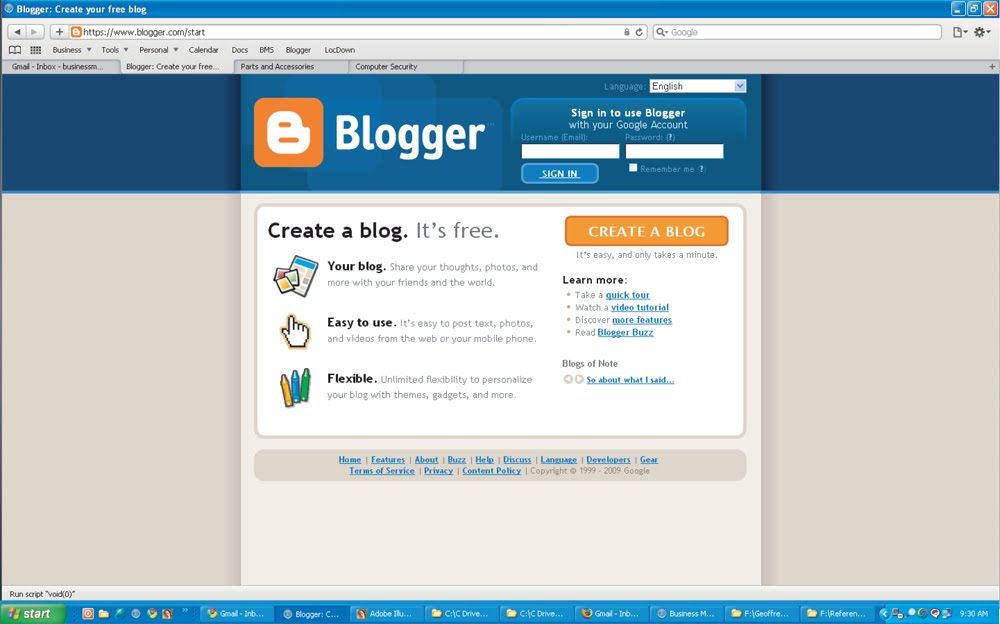 Step #2 - Go to Blogger.com