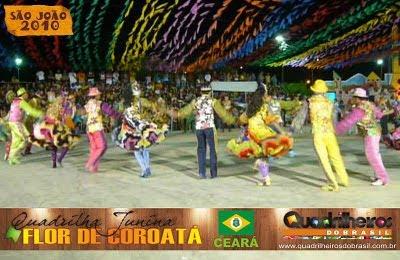 QUADRILHA FLOR DE COROATÁ. TRI-CAMPEÃ DO CIRCUITO DA SERRA DA IBIAPABA, 2005, 2008 E 2010