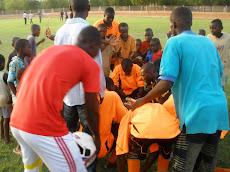 Prière aprés la célèbre victoire 4-0 Face au Liberté FC de Niamey